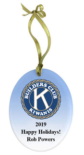 Builders Club Holiday Color Glass Ornament