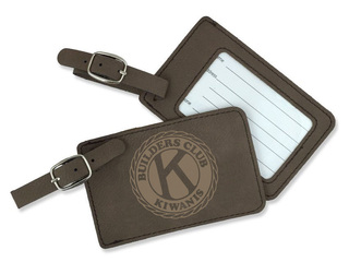 Builders Club Leatherette Luggage Tag