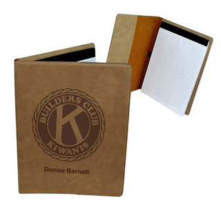Builders Club Leatherette Portfolio with Notepad