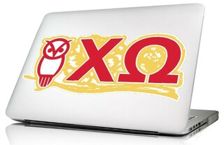 Chi Omega 10 x 8 Laptop Skin/Wall Decal