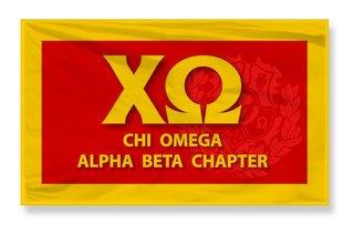 Chi Omega 3 X 5 Flag