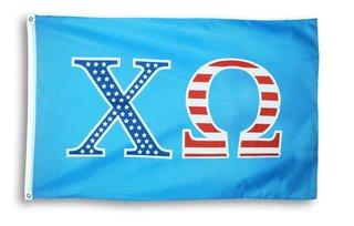 Chi Omega 3 X 5 USA Flag