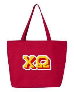 Chi Omega 3D Letter Tote Bag
