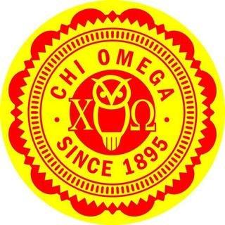 "Chi Omega 5"" Sorority Seal Bumper Sticker"