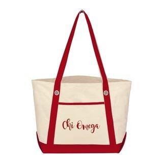 Chi Omega Sailing Tote Bag