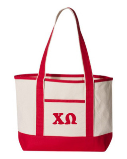 Chi Omega Sailing Tote Bag