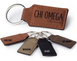 Chi Omega Alumna Key Chain