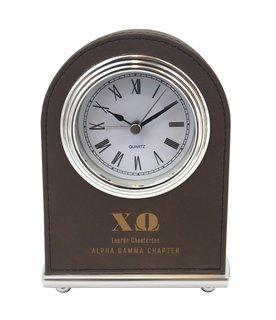 Chi Omega Arch Desk Clock