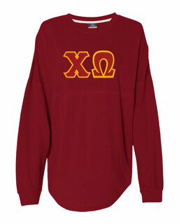 DISCOUNT-Chi Omega Athena French Terry Dolman Sleeve Sweatshirt