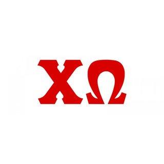 Chi Omega Big Greek Letter Window Sticker Decal
