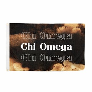 Chi Omega Bleach Wash Flag