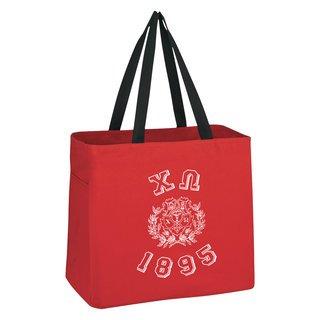 Chi Omega Block Crest - Shield Cape Town Bag