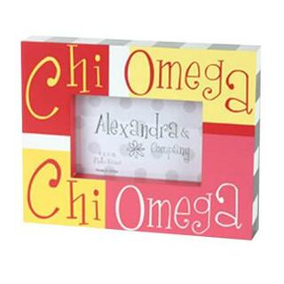 Chi Omega Block Picture Frames