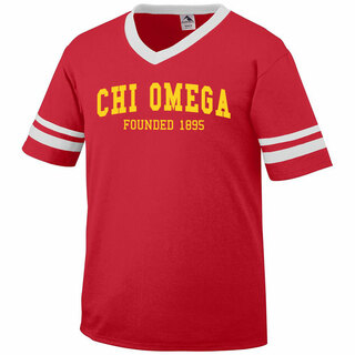 Chi Omega Boyfriend Style Founders Jersey
