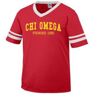 Chi Omega Boyfriend Style Founders Jersey