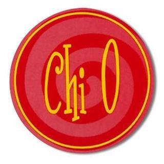 """Chi Omega Bumper Stickers 4"""" Round"""