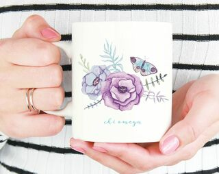 Chi Omega Butterfly Mug