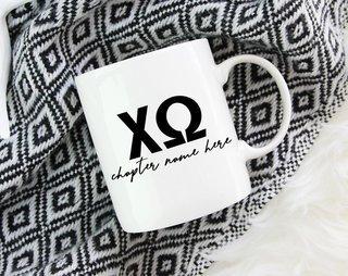 Chi Omega Chapter Mug