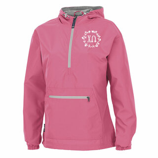 Chi Omega Chatham Anorak Solid Pullover