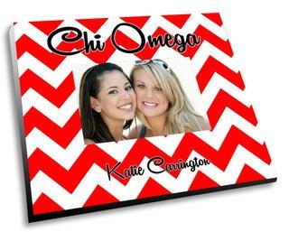 Chi Omega Chevron Picture Frame