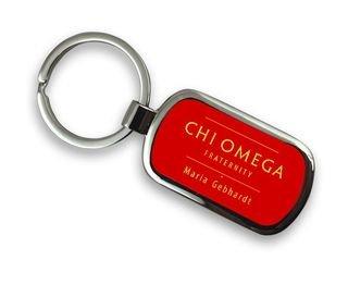 Chi Omega Chrome Mascot Key Chain