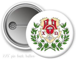 Chi Omega Color Crest - Shield Button