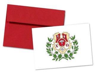 Chi Omega Color Crest - Shield Notecards(6)