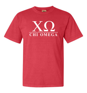 Chi Omega Comfort Colors Heavyweight T-Shirt