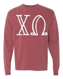 Chi Omega Comfort Colors Greek Long Sleeve T-Shirt