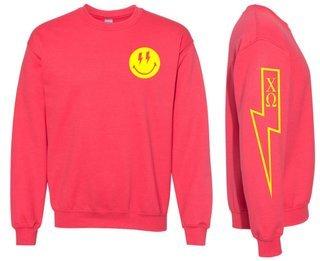 Chi Omega Comfort Colors Lightning Crew Sweatshirt