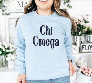 Chi Omega Comfort Colors Rosie Crew