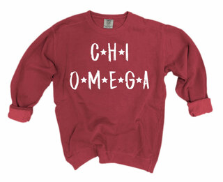 Chi Omega Comfort Colors Starry Night Crew