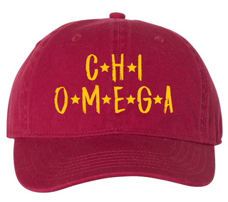 Chi Omega Comfort Colors Starry Night Pigment Dyed Baseball Cap