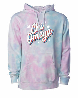 Chi Omega Cotton Candy Tie-Dyed Hoodie