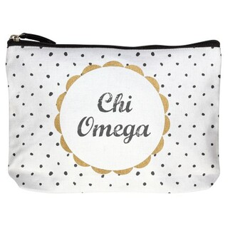 Chi Omega Cotton Canvas Makeup Bags