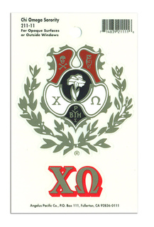 Chi Omega Crest - Shield Decals