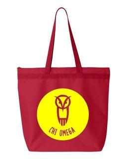 Chi Omega Circle Mascot Tote bag