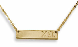 Chi Omega Cross Bar Necklace