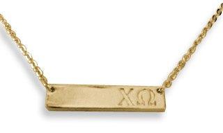 Chi Omega Cross Bar Necklace