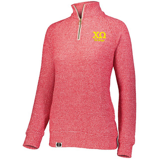 Chi Omega Cuddly 1/4 Zip Pullover