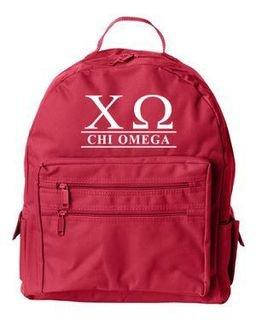 Chi Omega Custom Text Backpack