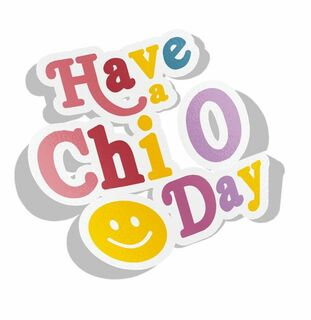 Chi Omega Day Decal Sticker