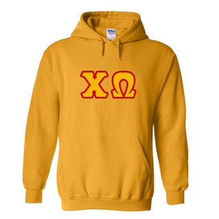 Chi Omega Discount Twill Hooded Sweatshirt