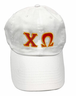 Chi Omega Double Greek Letter Cap
