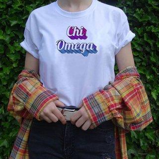 Chi Omega Echo Tee - Comfort Colors