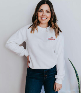 Chi Omega Embroidered Name Crewneck