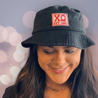 Chi Omega Est. Box Bucket Hat