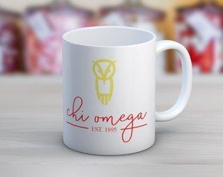 Chi Omega Established Coffee Mug