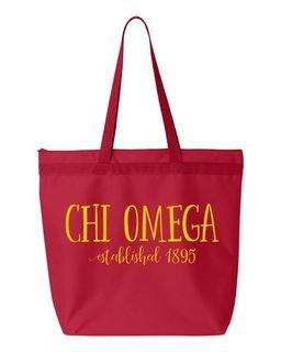 Chi Omega Established Tote bag