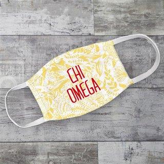 Chi Omega Floral Face Mask